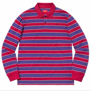 シュプリーム(Supreme)のsupreme Striped L/S polo(ポロシャツ)
