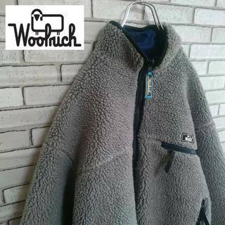ウールリッチ(WOOLRICH)の90s Wool rich ウールリッチ リバーシブル ボア フリース 古着(ブルゾン)