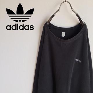 adidas - 古着 adidas アディダス トレフォイル ワンポイント ニット ビッグサイズ