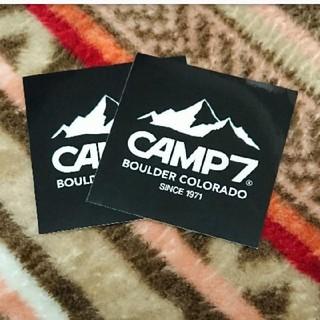 キャンプ7 ステッカー 2枚セット(しおり/ステッカー)