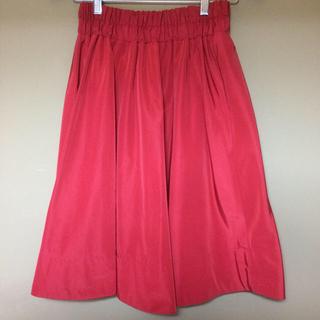 イーブス(YEVS)のレディース スカート リバーシブル YEVS イーブス 赤 ストライプ  フリー(ひざ丈スカート)
