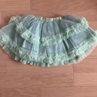 フェフェ(fafa)の新品未使用 韓国子供服 チュチュスカート  グリーン  80 90 (スカート)
