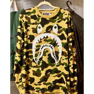 アベイシングエイプ(A BATHING APE)のA bathing ape シャークフェイス ロンティー カモ(Tシャツ/カットソー(七分/長袖))
