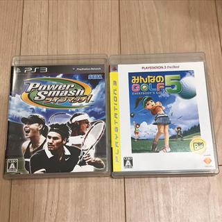 プレイステーション3(PlayStation3)のPS3 ソフト パワースマッシュ ライブ マッチ みんゴル5 セット(家庭用ゲームソフト)