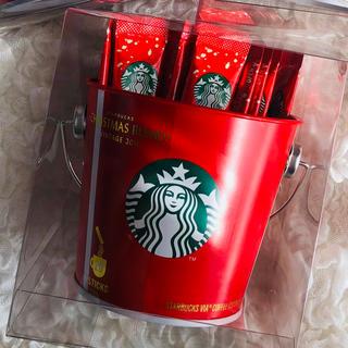 スターバックスコーヒー(Starbucks Coffee)の新品未開封 缶入り スターバックス スタバ VIA クリスマスブレンド(コーヒー)