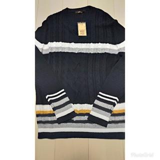 コムサメン(COMME CA MEN)のローゲージケーブル編みニット(ニット/セーター)