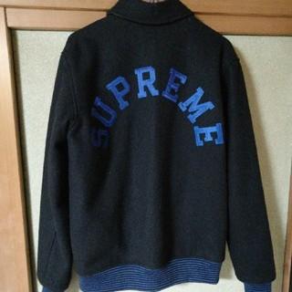 シュプリーム(Supreme)の10a/w varsity jacket ブラック スタジャン(スタジャン)