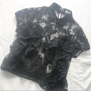 マメ(mame)のレキサミ  レースブラウス(シャツ/ブラウス(半袖/袖なし))