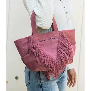 アリシアスタン(ALEXIA STAM)のV Fringe Small Tote Bag♡Raspberry Red(トートバッグ)