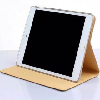 【ゴールド】iPad mini4 ケース 背面ウェーブ(iPadケース)