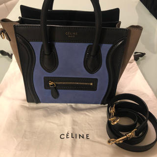 セリーヌ(celine)のceline♡セリーヌ♡ナノラゲージ♡トリコロール(ハンドバッグ)