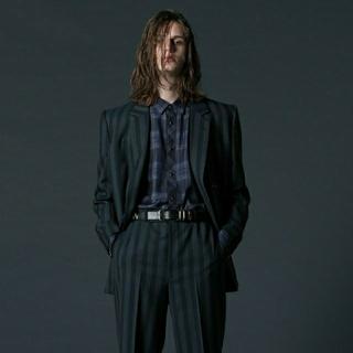 ジョンローレンスサリバン(JOHN LAWRENCE SULLIVAN)のlittlebig  Stripe Double Breasted Jacket(テーラードジャケット)