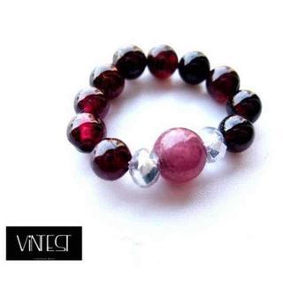 ルビーxガーネット ピンキーリング/指輪◆レディース/天然石/ワイン レッド赤紫(リング(指輪))