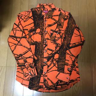 シュプリーム(Supreme)のsupreme shirt カモフラ リアルツリー オレンジ S(シャツ)