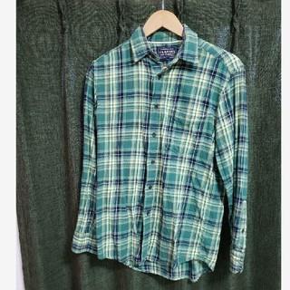 ユニクロ(UNIQLO)のUNIQLOユニクロフランネルチェックシャツ グリーン Sサイズ(シャツ)