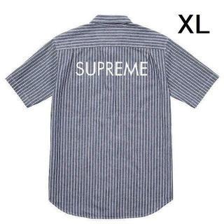 シュプリーム(Supreme)の【XL】SUPREME Stripe Denim SS Shirt デニムシャツ(シャツ)
