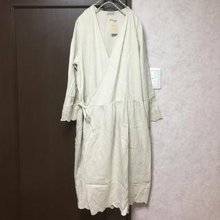 サマンサモスモス(SM2)の新品 スカラップカシュクールワンピース キナリ(ひざ丈ワンピース)