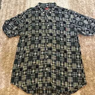 シュプリーム(Supreme)のSupreme Short Sleeve Button Up Shirts青緑L(シャツ)