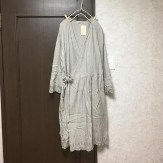 サマンサモスモス(SM2)の新品 スカラップカシュクールワンピース モカ(ひざ丈ワンピース)