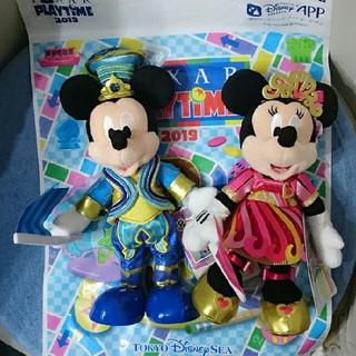 ディズニー(Disney)のポージープラッシー ミッキー &ミニー(ぬいぐるみ)