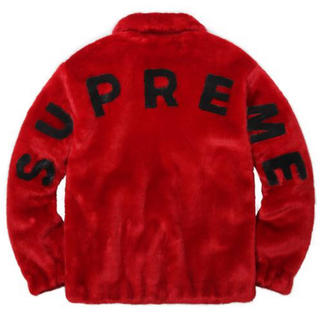 Supreme - Supreme faux fur bomber jacket Red 確実正規品