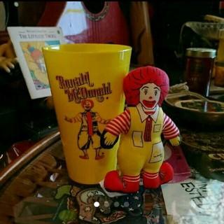 マクドナルド(マクドナルド)のマクドナルド プラスチックカップ    ロナルドミニラグドール(キャラクターグッズ)