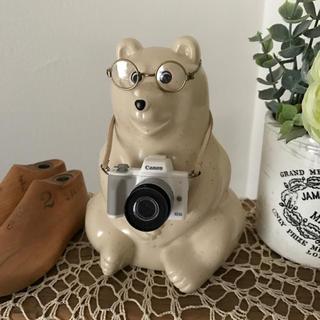しろくま貯金箱 《ミニチュア カメラ/ホワイト》