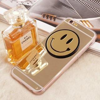 iPhone7 アイフォン スマホ ケース カバー スマイル ゴールド 金  (iPhoneケース)