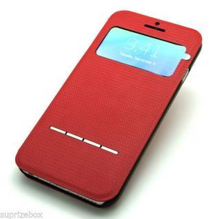 HOCO iPhone6s/ 6 レッド PUレザー クイックケース(iPhoneケース)