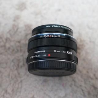 オリンパス(OLYMPUS)のオリンパス m.zuiko 17mm f1.8 ブラック フィルター付(レンズ(単焦点))