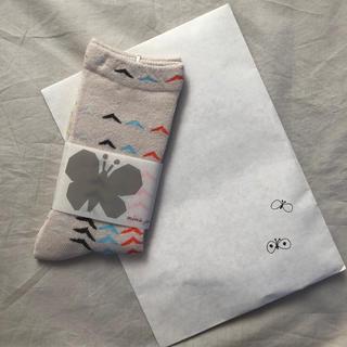 ミナペルホネン(mina perhonen)のminä perhonen  birdbird ラスト1点 【新品未使用】(靴下/タイツ)