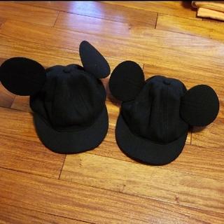 ディズニー(Disney)の【2つセット】ミッキー★キャップ★フエルト★帽子(帽子)