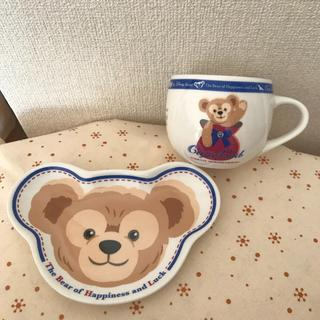 Disney - Duffy ダッフィー スーベニア カップ & ソーサー マグカップ &プレート
