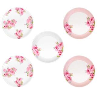 ローラアシュレイ(LAURA ASHLEY)の【新品】ローラアシュレイ お皿5枚セット ローズ(食器)