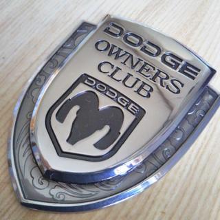 DODGE ORNERS CLUB 3Dメタル ブラック エンブレム レア♪(車外アクセサリ)