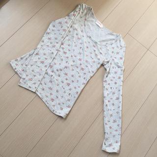 花柄 レディース  長袖Tシャツ(Tシャツ(長袖/七分))