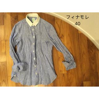 バーニーズニューヨーク(BARNEYS NEW YORK)のフィナモレ クレリックシャツ 40サイズ(シャツ/ブラウス(長袖/七分))
