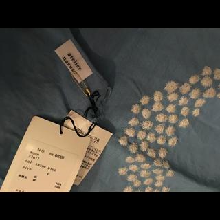 ミナペルホネン(mina perhonen)のアトリエナルセ リネンショール  moon刺繍(マフラー/ショール)