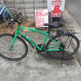 引き取り限定、GIANT.momentumクロスバイク変速3×7カラー緑(自転車本体)