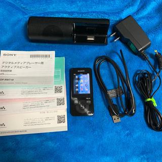 ウォークマン(WALKMAN)のSONY ウォークマン NW-S13K 黒 4GB スピーカー付き(ポータブルプレーヤー)