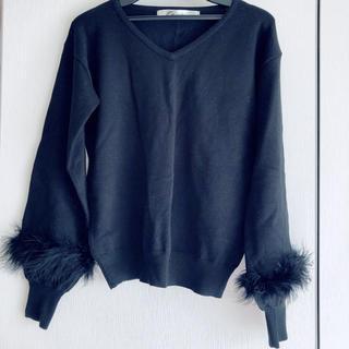 コウベレタス(神戸レタス)の袖ファーニット(ニット/セーター)