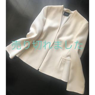 アクリス(AKRIS)のAKRIS♡ノーカラージャケット 美品(ノーカラージャケット)