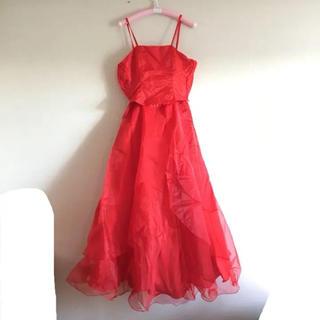 ドレス カラードレス ウエディング 発表会 パーティー 生地 素材 チュール(ロングドレス)