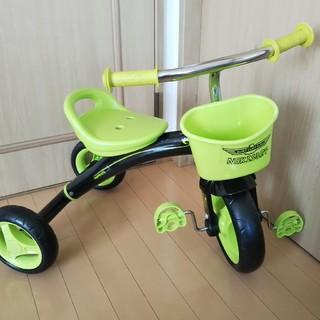 【室内使用のみ】ヤトミ ハピネス おでかけ三輪車 グリーン TR-OD-GN(三輪車)