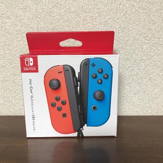 ニンテンドースイッチ(Nintendo Switch)のJoy-Con(L)ネオンレッド/(R)ネオンブルー(その他)