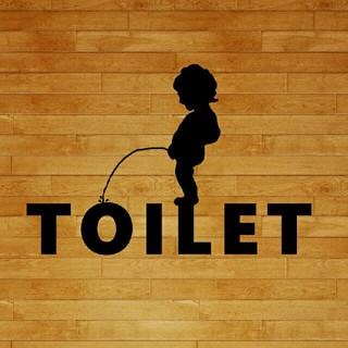 トイレ カワイイオシャレステッカー カッティングステッカー toilet(車外アクセサリ)