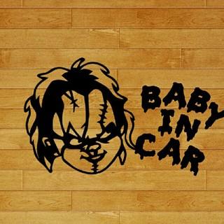 チャッキー ベイビーインカー カッティングステッカー チャイルドプレイステッカー(車外アクセサリ)