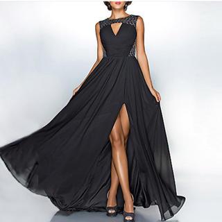 着やせ セクシー ファッション 高貴 優雅 淑女 パーテイードレス ワインドレス(ロングドレス)