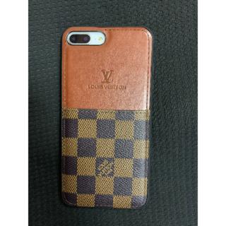 ルイヴィトン(LOUIS VUITTON)のLouisVuitton iPhone7Plus/8Plusの格子縞の電話ケース(iPhoneケース)
