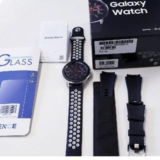 サムスン(SAMSUNG)のgalaxy watch 46mm 新品同様 おまけ付き(その他)